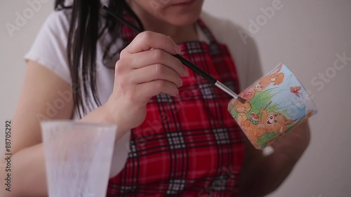 Постер, плакат: decoupage technique, холст на подрамнике