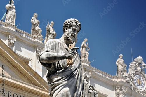 Fototapeta Statue of Saint Peter in Vatican city, Italy