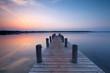 erfrischender See am Morgen
