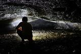 Espeleólogo en Tubo Volcánico