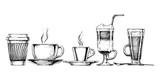 Fototapety coffee set