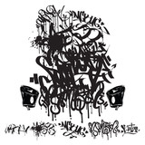 Fototapety Vector Graffiti Tags - writing