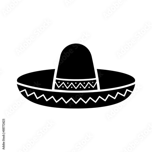 Sombrero / Mexican hat flat icon for apps and websites Poster