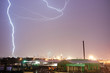 Deep South Thunderstorm Lightning Strike over Dallas Texas USA