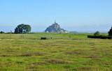 View on Le Mont Saint Michel village, France
