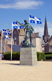 Monument of Surcouf by Alfred Caravanniez. Saint Malo, France