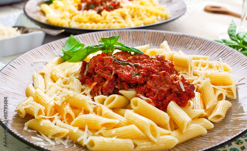 In de dag Buffet, Bar Pasta bolognese