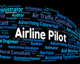 Airline Pilot Indicates Airman Words And Hire poster