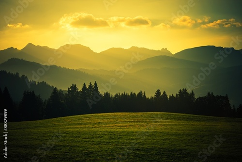 Plagát Scenic Mountain Landscape