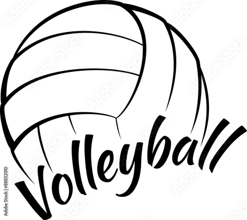 Fototapeta Volleyball with Fun Text