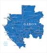 Постер, плакат: Gabon map