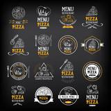 Fototapety Pizza menu restaurant badges. Food design template.