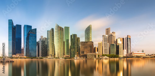 Foto op Canvas Foto van de dag Singapore Skyline and view of Marina Bay