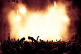 Fototapety cheering crowd at a rock concert