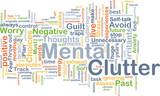 Mental clutter background concept poster