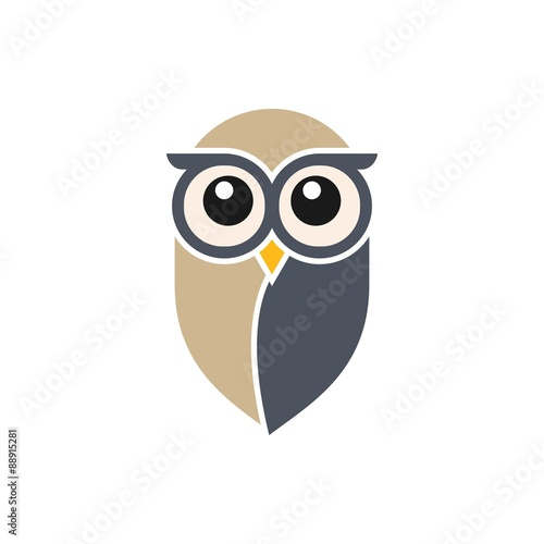 Fotobehang Uilen cartoon Owl Logo Template