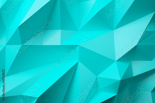 low poly turquoise background - 88924877