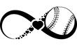 Softball or Baseball Love Infinity