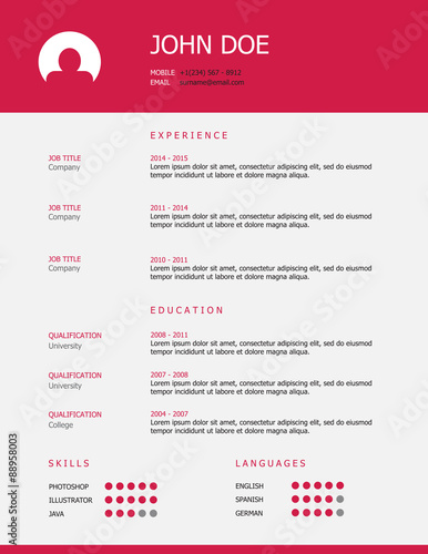 u0026quot professional simple styled resume template design with a