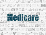 Fototapety Healthcare concept: Medicare on wall background