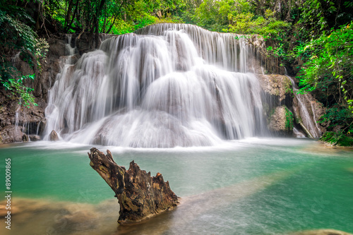 Waterfall Huay Mae Kamin National Park in Thailand. - 89009865