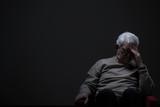 Fototapety Despairing senior man