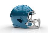 Blue american football helmet