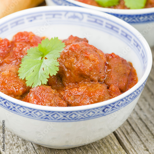 ... : Xiu Mai - Vietnamese spicy pork meatballs in fragrant tomato sauce