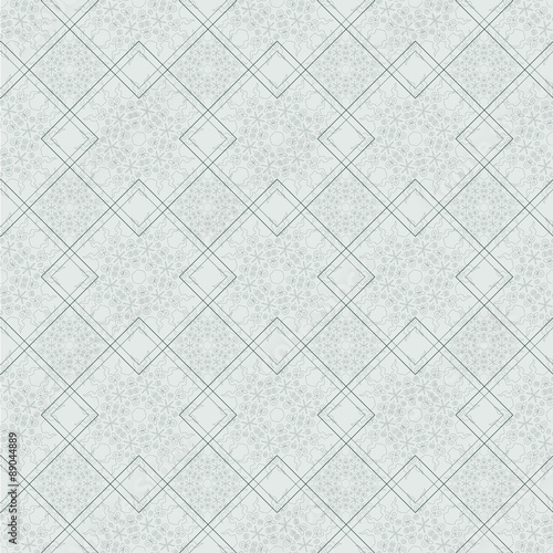 Ornamental seamless pattern with traditional Arabic ornaments.  - 89044889