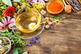 Fototapety Herbal tea with honey