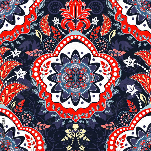 Floral ethnic background - 89072235