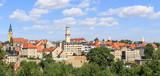 Bystrzyca Kłodzka, załozone w sredniowieczu  miasto na Dolnym Śląsku u ujścia Bystrzycy do Nysy Kłodzkiej - Panorama Starego Miasta poster