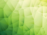 Fototapety abstract triangular yellow white green bio background