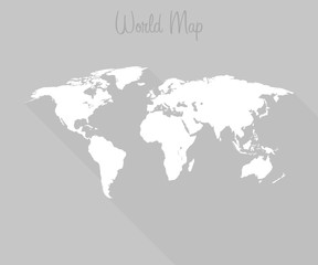 world map flat style