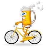 birra in bicicletta