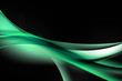 abstract green wave black background