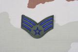 KIEV, UKRAINE - May 18, 2015. US AIR FORCE Senior Airman rank patch on desert uniform poster