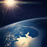 Earth view from space Elements of this image furnished by NASA - 89137047