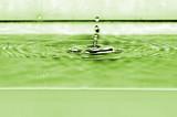 Gocce di acqua in movimento