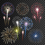 Fototapety Set of isolated vector fireworks