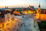 Top view of the old town in Warsaw - 89170867