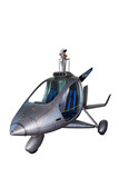 Futuristic helicopter-isolated