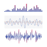 Fototapety equalizer. scheme of radio waves