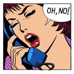 Oh no emotional talk women phone