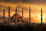 Fototapety The Blue Mosque in Istanbul during sunset