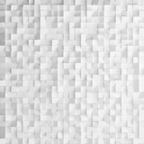 Fototapety Abstract texture from white cubes, 3d render