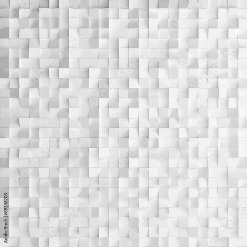Abstract texture from white cubes, 3d render