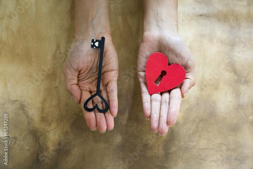 Poster Anahtar, Kalp ve Aşk