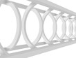 White Abstract Tunnel Architecture Background