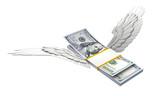 羽根の生えたドル紙幣